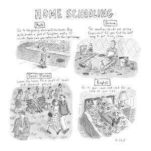 'Home Schooling' - New Yorker Cartoon by Roz Chast