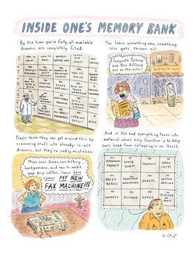 Inside One's Memory Bank' - New Yorker Cartoon by Roz Chast