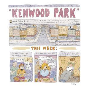Kenwood Park - New Yorker Cartoon by Roz Chast