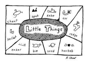 Little Things' - New Yorker Cartoon by Roz Chast