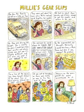 MILLIE'S GEAR SLIPS - New Yorker Cartoon by Roz Chast