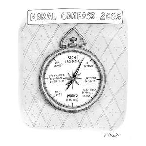 Moral Compass 2003 - New Yorker Cartoon by Roz Chast