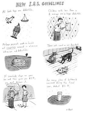 New I.R.S. Guidelines - New Yorker Cartoon by Roz Chast