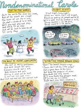 Non-denominational Carols  - New Yorker Cartoon by Roz Chast