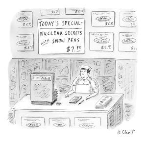 Nuclear Secrets with Snow Peas' - New Yorker Cartoon by Roz Chast