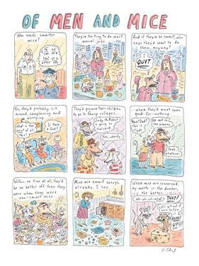Of Men and Mice - New Yorker Cartoon by Roz Chast