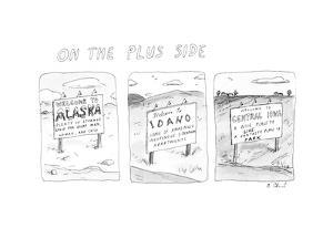 On The Plus Side - New Yorker Cartoon by Roz Chast