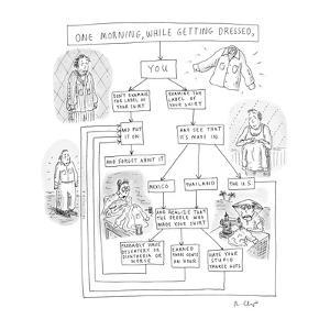 ONE MORNING WHILE GETTING DRESSED, - New Yorker Cartoon by Roz Chast