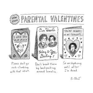 Parental Valentines Day Cards - New Yorker Cartoon by Roz Chast