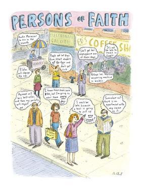 """""""Persons of Faith"""" - New Yorker Cartoon by Roz Chast"""