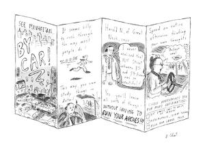 See Manhattan . . . By Car! - New Yorker Cartoon by Roz Chast