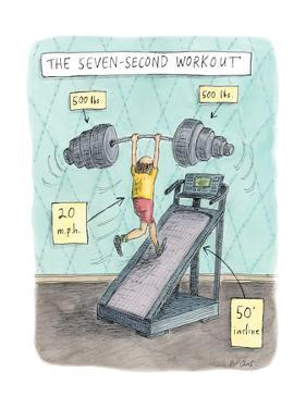 The Seven Second Workout - New Yorker Cartoon by Roz Chast