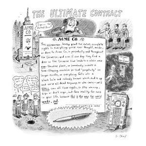 The Ultimate Contract - New Yorker Cartoon by Roz Chast