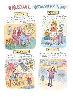 Unusual Retirement Plans - New Yorker Cartoon by Roz Chast