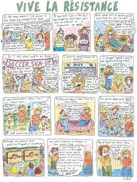 Vive La Résistance - New Yorker Cartoon by Roz Chast