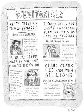 Weditorials - New Yorker Cartoon by Roz Chast