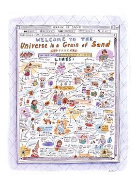 Welcome to The Universe in a Grain of Sand' - New Yorker Cartoon by Roz Chast