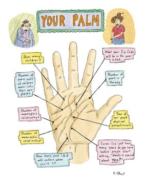 Your Palm - New Yorker Cartoon by Roz Chast