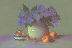 Still Life with Cherries by Rozsika Hetyei-Ascenzi