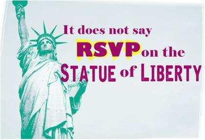 RSVP On The Statue Of Liberty