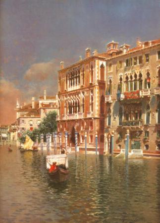 The Grand Canal, Venice by Rubens Santoro