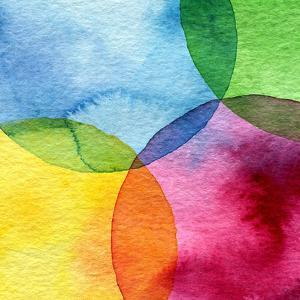 Abstract Watercolor Circle Painted Background by Rudchenko Liliia