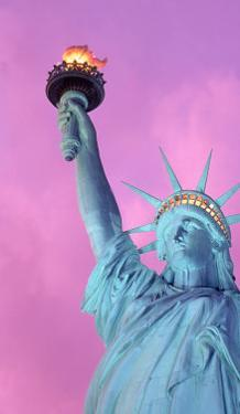 Statue of Liberty with Purple Sky, NYC by Rudi Von Briel