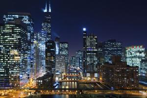 Chicago at Night. by rudi1976