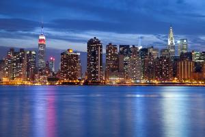 Manhattan Skyline. by rudi1976