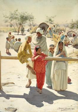 A Peep at the Train, India, 1892 by Rudolf Der G. Swoboda