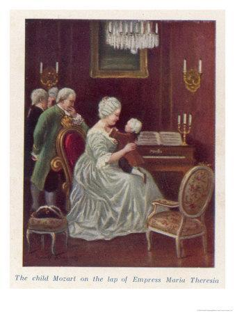 Wolfgang Amadeus Mozart as a Child Taken by the Empress Maria Theresia onto Her Imperial Lap