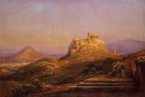View of the Acropolis from the Pnyx, 1863 by Rudolf Müller