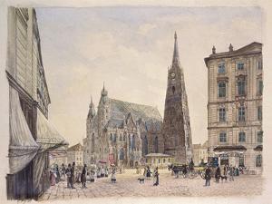 Saint Stephan Cathedral in Vienna by Rudolf von Alt