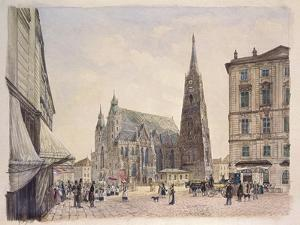 Saint Stephen's Cathedral in Vienna, 1832 by Rudolf Von Alt