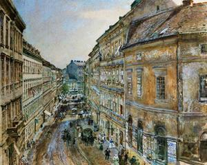View of Skodagasse in Vienna from the artists apartment,1894 by Rudolf Von Alt