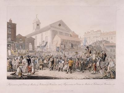 Election in Covent Garden, London, 1818