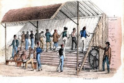 Treadmill at Brixton Prison, London, 1827