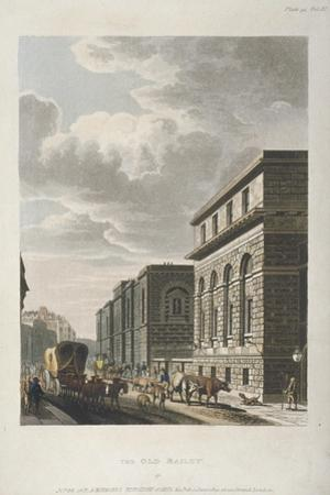 View of Old Bailey, Looking North, City of London, 1814