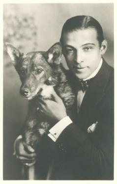 Rudolph Valentino with Dog