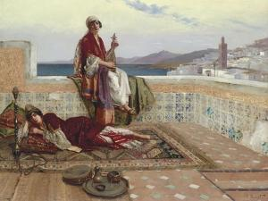 On the Terrace, Tangiers by Rudolphe Ernst