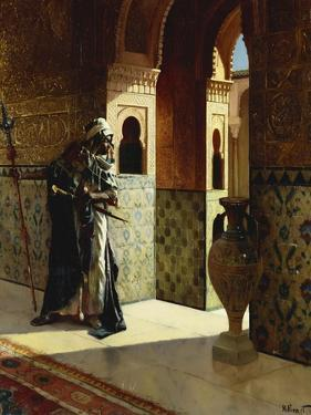 The Moorish Guard, the Alhambra by Rudolphe Ernst