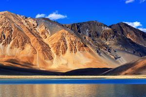 Mountains , Pangong Tso (Lake),Leh,Ladakh,Jammu and Kashmir,India by Rudra Narayan Mitra