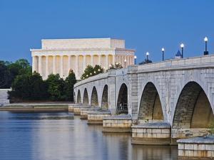 Arlington Memorial Bridge and Lincoln Memorial in Washington, DC by Rudy Sulgan