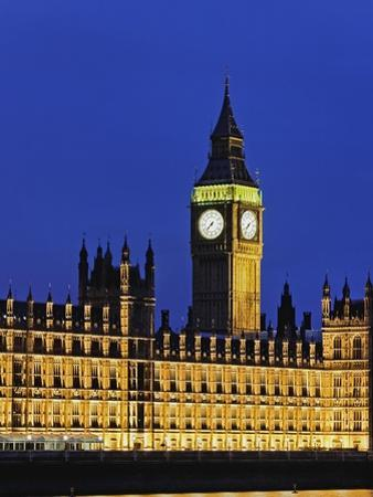 Big Ben Clock Tower and Houses of Parliament by Rudy Sulgan