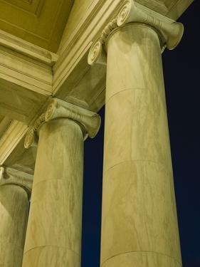 Columns at Jefferson Memorial by Rudy Sulgan