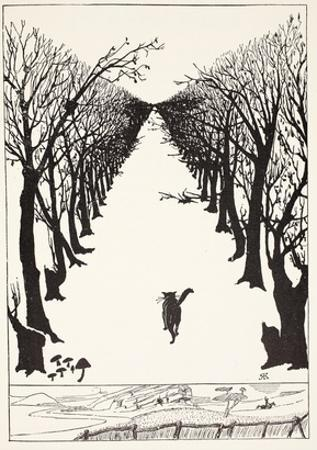 The Cat That Walked by Himself, Illustration from 'Just So Stories for Little Children'
