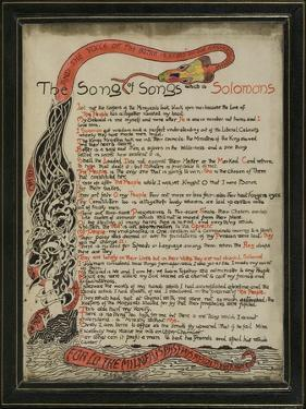 The Song of Songs Which Is Solomon's, 8th September 1907 by Rudyard Kipling