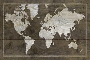 Timber World Map by Rufus Coltrane