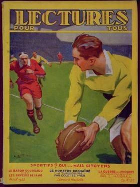Rugby, Illustration from the Cover of 'Lectures Pour Tous', 1932