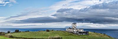 Ruins of a lighthouse, Ribeirinha Lighthouse, Faial Island, Azores, Portugal